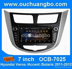 Car audio gps dvd accessories for Hyundai Accent 2011-2012 with MP4 media auto