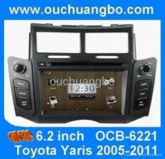 car auto gps for toyota yaris argentina with VCD palyer iPod USB car monitor