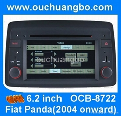 HD high resolution car radio dvd stereo for Fiat Panda 2004