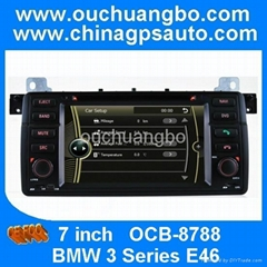 Ouchuangbo car DVD gps for BMW E46 with stereo multimedia kit FM radio