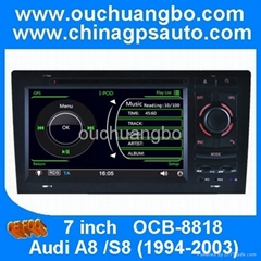 ouchuangbo autoradio bluetooth for Audi A8 with gps system
