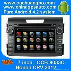 Android 4.2 DVD MP3 player navi  radio system for Honda CRV 2012
