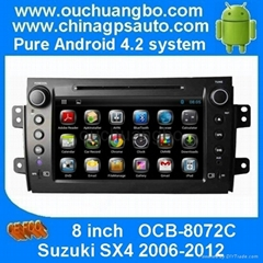 Android 4.2 stereo dvd gps navi for Suzuki SX4 2006-2012 with 3G wifi BT