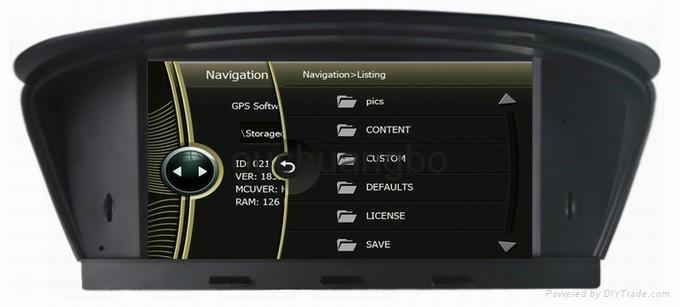 DVD gps stereo navigation radio for BMW  E60 E61 E63 E64 9
