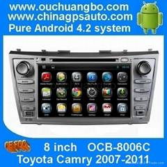 2007-2011 Toyota Camry New 100% Pure Android 4.2 OS Car Audio DVD GPS