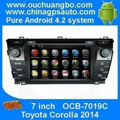 Android 4.2 DVD Player Navi Radio GPS System Toyota Corolla 2014