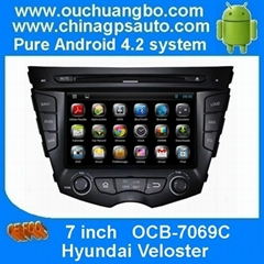 Android 4.2 Car GPS Navigation iPod Radio DVD Player Hyundai Veloster