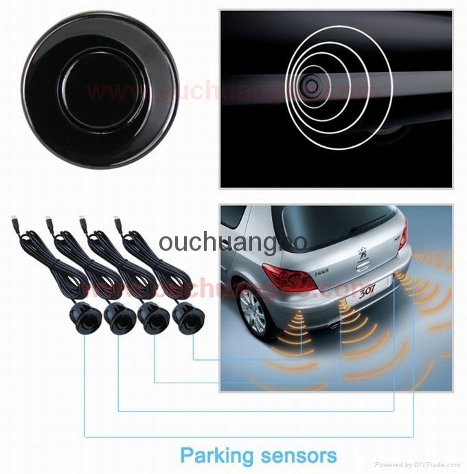 HOT OEM Parking Sensors Rear Electromagnetic LED Display 12V 4 System Radar  8