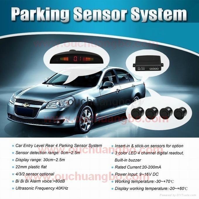 HOT OEM Parking Sensors Rear Electromagnetic LED Display 12V 4 System Radar  19