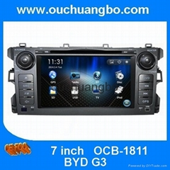 Ouchuangbo GPS stereo Navigation Radio DVD Player for BYD G3