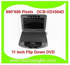 11 inch 800*600 Car Flip Down DVD car roof mount monitor with overhead monitor
