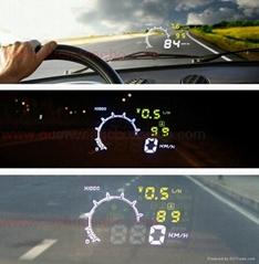 Auto Car HUD Head Up Display Speed Engine Details Showing Vehicle-Mounted