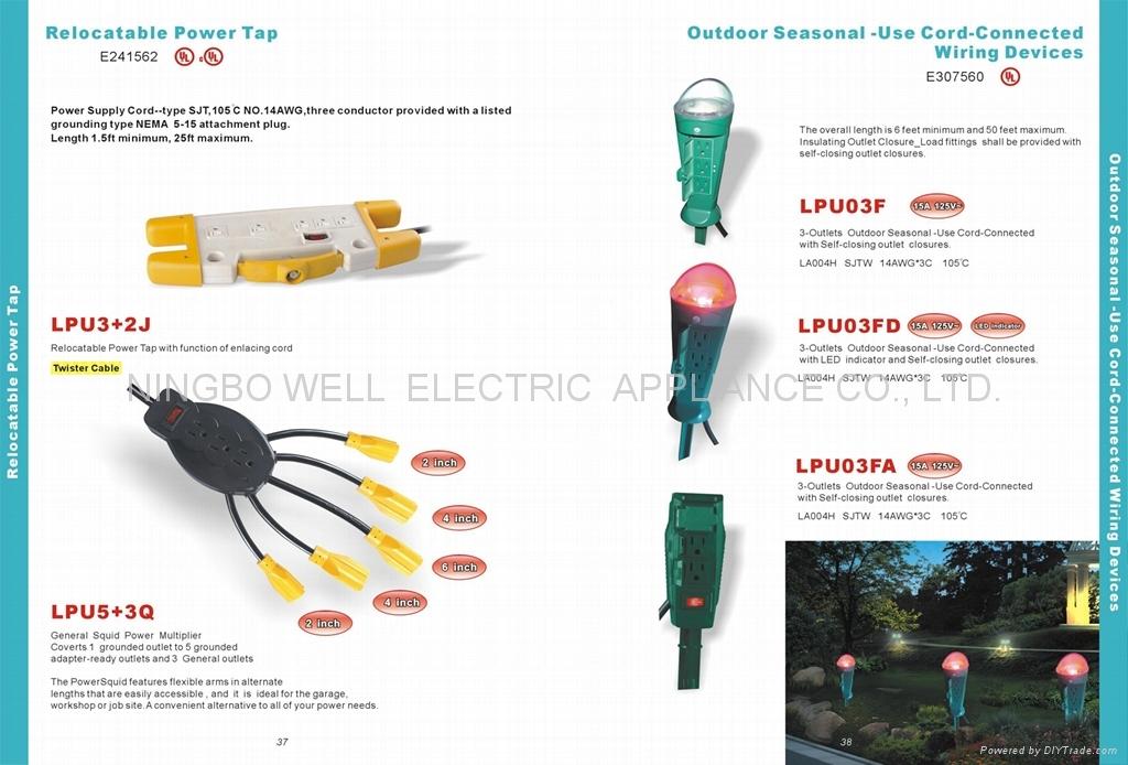 Garden light and Temporary Lighting String Plastic Lampguards