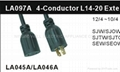 NEMA L14-30P America Locking Extension Cord