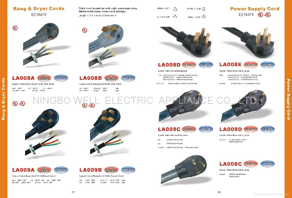 d798 ul nema 10 30p 10 50p 14 30p 14 50p rang & dryer cords la008b nema 10 30p wiring diagram at nearapp.co