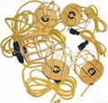 100' 12/3 SJTW Job-Site 10 Lamp String Light With Metal Cage Guard