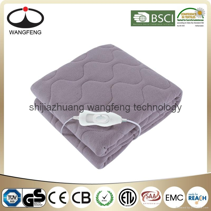 China Wholesale Luxury Fleece Quilting Electric Heated Blanket 1