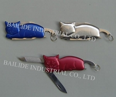 2 Functional Pocket Knife Cat Shape Promotional Gift Outdoor Hand Tools