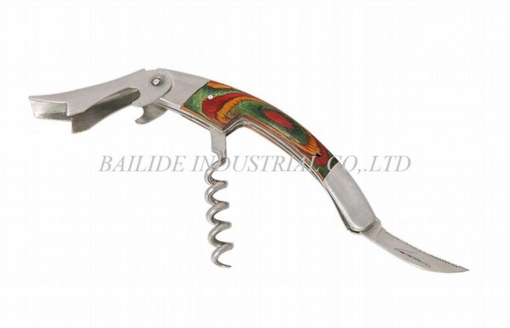 New Design Wine Bottle Opener Corkscrew BLD-KC08W