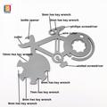 袖珍自行車修理工具卡