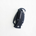 Utility Camping Folding Pocket Knive with Flint and Carabiner