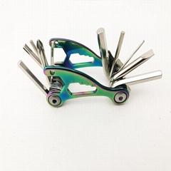 鍍鈦的多功能自行車工具