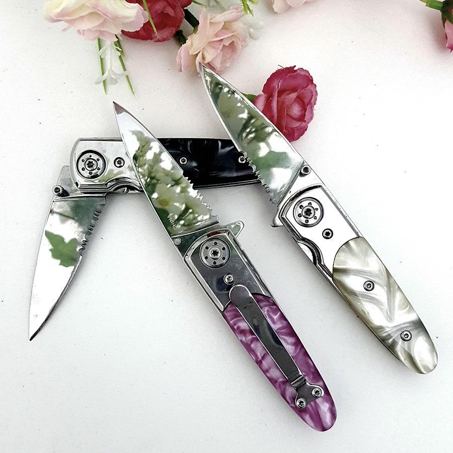 Stone handle folding knife