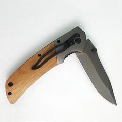 木柄戶外露營刀