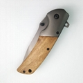 Wood Handle Outdoor Camping Knife