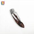 Wooden handle pocket knife