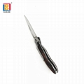 Wooden handle portable folding pocket knife