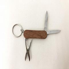 攜帶便利的迷你多功能木柄禮品小刀