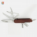 High Quality Rose Wood Handle Multifunction Knife 2