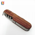 High Quality Rose Wood Handle Multifunction Knife