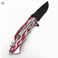 Stainless steel pocket folding knife with serrated blade  4