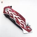 不锈钢折叠刀带有锯齿刀片 6