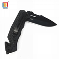 Stainless steel folding knife With Aluminum Handle
