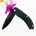 Stainless steel camping military tactical folding hunting knife 2
