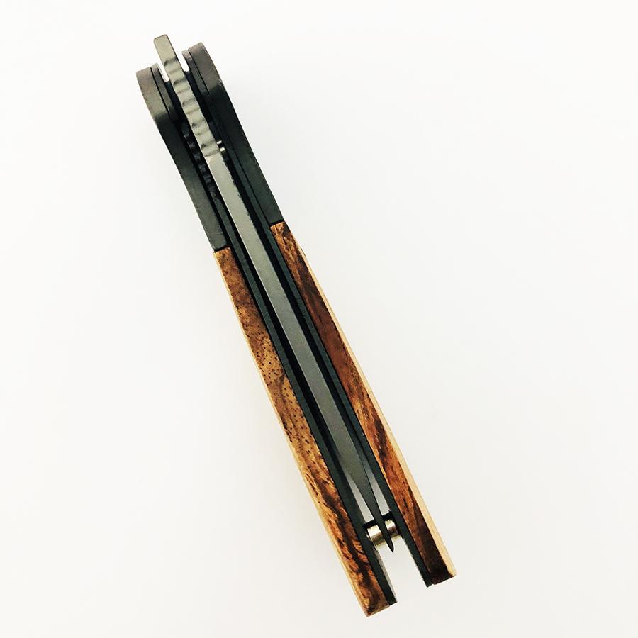 折疊刀木柄手戶外狩獵口袋刀 6