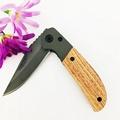 折疊刀木柄手戶外狩獵口袋刀