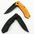 3CR13材質的刀片折疊口袋戰朮生存露營刀 5