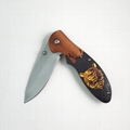 Folding Hunting pocket Knife with wood handle