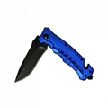 Aluminum handle Camping Survival Foldable Knife with Glass cutter