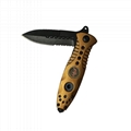 Outdoor Camping Foldable Survival  Hunting Knife