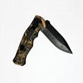 不锈钢户外折叠生存猎刀