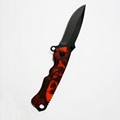 2021 Stainless steel Hunting Knife with red aluminum handle