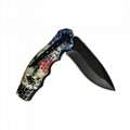 Stainless steel Folding Hunting Knife for Outdoor Camping