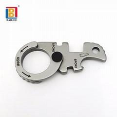 户外EDC促销礼品金属钥匙链扣