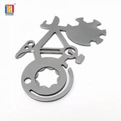 促销礼品自行车形状的EDC金属钥匙扣