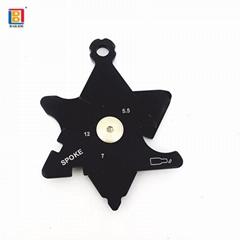 促销礼品黑色金属钥匙扣户外EDC工具